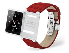 40ed065324c iWatchz Timepiece Leather Watch Strap for iPod Nano - RED