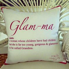 "Far to young to have grandkids? ""Glam-ma"""