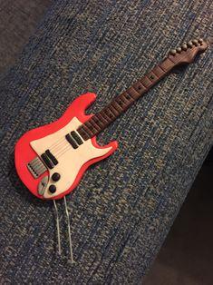 Fender Guitar Polymer Clay Cake Topper