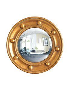 Federalist Style Gold Convex Mirror via High Street Market.