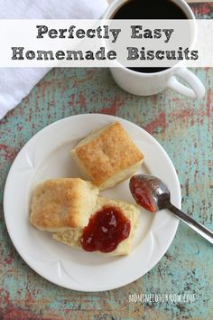 This easy homemade biscuits recipe will only take you 30 minutes from start to finish! Perfect for breakfast any day of the week of with dinner!