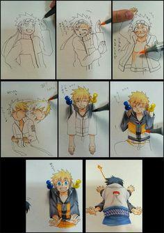 absoluuutely cute!! xD Naruto & Sasuke. (the art isn't mine)