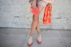 The Street Style Accessories That Stopped Traffic at Fashion Week --- The best of tangerine on the streets.