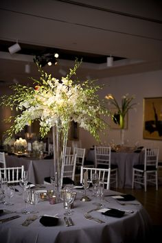 Annenberg Gallery in the Hamilton Building at PAFA - Pennsylvania Academy of the Fine Arts. Design by Beautiful Blooms.