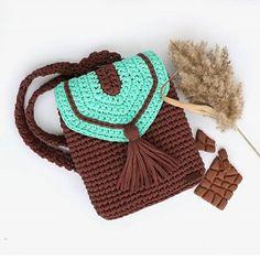 Мята Тиффани + шоколад = рюкзак из #пряжалиана