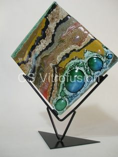 CS Vitrofusion: Rombo Paint Your Own Pottery, Fused Glass Art, Window Panels, Glass Ball, Stained Glass Windows, Statue, Crafty, Display Stands, Pedestal