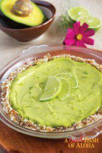 Key Lime–Avocado Pie by Chef Alyssa Moreau (make sweetener stevia): S