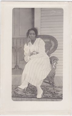 Pensive African American Woman Vintage by ThatVintagePhotoShop