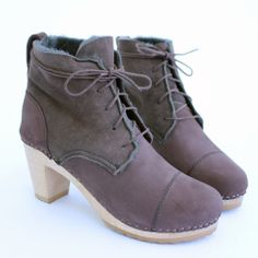 Phoebe Shearling boot - Bryr - Handmade Clogs with Care.