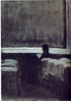 Edward Hopper, Solitary Figure in a Theater, 1902-1904