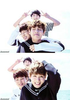 Jungkook Jimin and Taehyung. maknae line of BTS Namjoon, Jimin Jungkook, Bts Taehyung, Bts Bangtan Boy, Hoseok, Foto Bts, Bts Photo, Justin Bieber, Jin