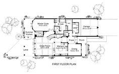 First Floor Plan of Coastal   Contemporary   Florida   Italian   Mediterranean   House Plan 75131