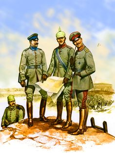 German officers during WWI