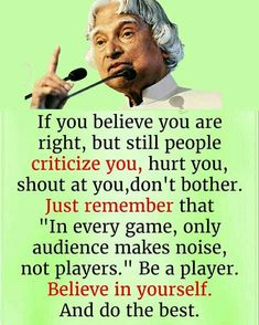 Well Said Quotes 628604060476440508 - Source by beereinstein Apj Quotes, People Quotes, Motivational Quotes, Qoutes, Quotes Images, Hindi Quotes, Inspirational Quotes About Success, Meaningful Quotes, Positive Quotes