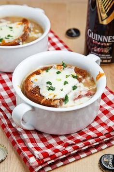 Reuben Soup~   Directions ~     Melt butter in a lg  pan over med heat, add onion, saute 5-7 min.     Add garlic,  pepper flakes,saute til fragrant,  1 min.     Mix in flour,  cook  2-3 min.     Stir in broth, add corned beef, sauerkraut, potatoes, Worcestershire, pickling spices, caraway & bay leaves, bring to a boil, reduce to simmer for 10-15 min.     Add cream, salt & pepper, remove  bay leaves.     Divide between 4 oven-safe bowls, top with bread &  Swiss, broil until t 1-3 min.