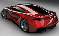 BMW M1 Supercar Concept. Checkout that full-length windshield to rear window.