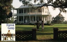 "The big old Southern house from the movie ""Forrest Gump"" 