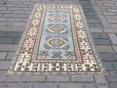 Excited to share the latest addition to my #etsy shop: Blue Turkish rug, Vintage blue rug, Handmade carpet, Bohemian rug, Boho home decor, Oriental rug, Livingroom rug, oushak Carpet, 5.6x9.2 ft Medium Rugs, Bohemian Rug, Boho, Oriental Rug, Rugs In Living Room, Carpet, Etsy Shop, Handmade, Vintage