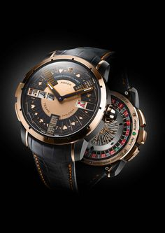The Christophe Claret Poker Watch (from $180,000) plays Texas Hold 'em. Choose titanium, rose gold or white gold.