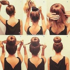 bun + braids