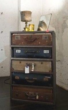 repurposing old suitcases.