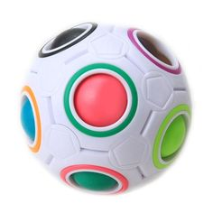 Spherical Magic Cube Speed Rainbow Ball Football Puzzles Kids Educational Learning Toys for Children Adult Gifts   #StickersGalaxy