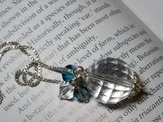 Swarovski Crystal Sterling Silver Necklace  by UnikButikJewelry, $29.00