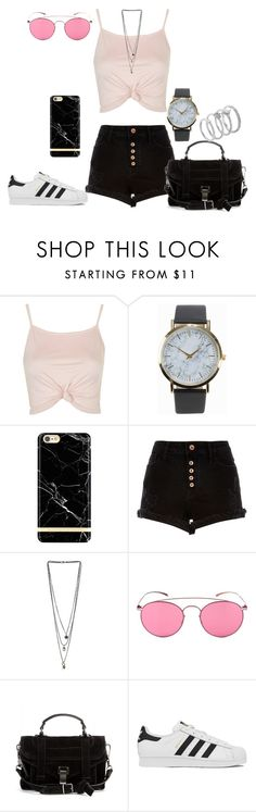 """""""Untitled #216"""" by charlotte-down on Polyvore featuring Topshop, NLY Accessories, Miss Selfridge, Mykita, Proenza Schouler, adidas and Vince Camuto"""