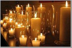 Candlelight :  wedding candles decor