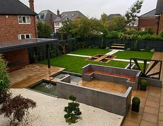 fitted furniture landscaping design build newcastle upon tyne Landscaping Design, Joinery, Newcastle, Building Design, Garden Ideas, Deck, Landscape, Outdoor Decor, Furniture