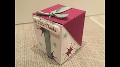 Star of Light Flip Lid Box, Video Tutorial, October Customer Thank You Gift