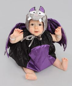 Take a look at this Black & Purple Bat Dress-Up Set by am pm kids! on #zulily! #halloween #babycostume