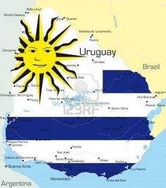 Uruguay. Only country in the world where the flag shows a smiling sun!