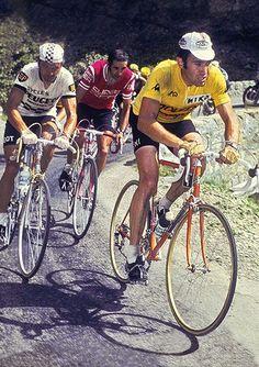 Tour de France 1975. Eddy Merckx (1945), Bernard Thevenet (1948) e Pedro Torres (1949)