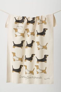 This hits two of my passions in life- tea towels and dachshunds!  From anthropologie.