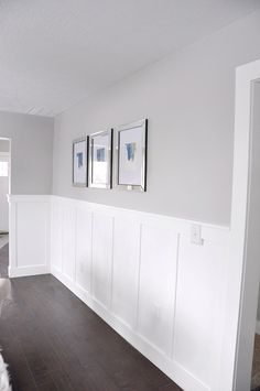 3 Intelligent Clever Ideas: Wainscoting Around Windows Light Fixtures victorian wainscoting hallways.Wainscoting Beadboard How To Make wainscoting diy.Wainscoting Around Windows Paint Colors. Home Renovation, Home Remodeling, Benjamin Moore Stonington Gray, Wainscoting Styles, Painted Wainscoting, Wainscoting Bathroom, Wainscoting Panels, Wainscoting Height, Black Wainscoting
