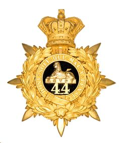 British; 44th(East Essex) Regiment of Foot, Officer's 1878 pattern helmet plate
