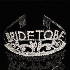 Wedding Headband Bachelorette Sparkle Tiara Hen Party Crown Bride Bridal Shower Supply is cheap, see other hair accessories on NewChic. Wedding Favors, Wedding Events, Wedding Decorations, Wedding Dressses, Wedding Headband, Party Items, Flower Brooch, Headpiece, Bridal Shower