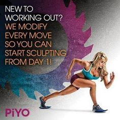 PiYo is a low impact (no jumps or plyometric), no equipment (no weights!!), Pilates-Yoga inspired workout. If you are not strong—it will make you strong, if you are not flexible—you will be after 60 days! This is for beginners, and expert workout gurus—this workout will cater to everyone's abilities. Come join the challenge @ www.facebook.com/kickstartmotivation