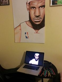 Lebron James A1 Portrait Drawing by Musa Drammeh, via Behance