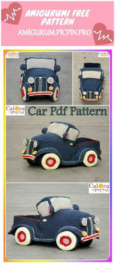 We continue to provide you with the latest recipes related to Amigurumi. Amigurumi classic car free crochet pattern is waiting for you. Crochet Car, Crochet Crafts, Crochet Dolls, Crochet Projects, Free Crochet, Easy Crochet Patterns, Amigurumi Patterns, Knitting Patterns, Cute Turtles