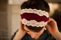 Garnet Vintage Stretch  - Garlands of Grace headband 2012. $22.00, via Etsy.