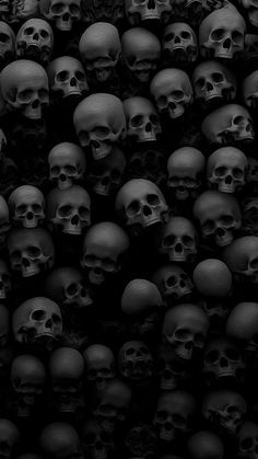 Skulls bones black monochromatic grays phone wallpaper background for iPhone and Android. Skull Wallpaper Iphone, Goth Wallpaper, Cellphone Wallpaper, Mobile Wallpaper, Wallpaper Backgrounds, Wiccan Wallpaper, Hd Wallpaper Android, Wallpaper Online, Animal Wallpaper
