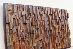 i think this would make an awesome headboard  - Reclaimed wood art #piel #shoppiel #inspiration