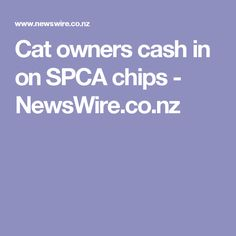 Cat owners cash in on SPCA chips - NewsWire.co.nz