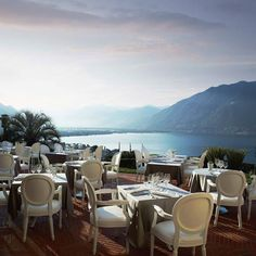 A refined atmosphere in a relaxing setting overlooking Lake Maggiore this is what offers the Villa Orselina in Switzerland.  Une atmosphère raffinée dans un cadre reposant dominant le Lac Majeur cest ce que vous propose la Villa Orselina en Suisse.  #travel #switzerland #view #panorama #restaurant #lake #nature #hotel #hotelview #luxury #luxurylife #relaxing #beautiful #lakemaggiore #instatravel by hotelswithaview