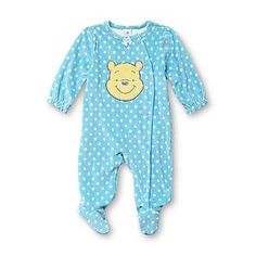 Disney Baby- -Winnie the Pooh Infant Girl's Fleece Sleeper Pajamas