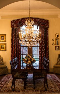 Lighting design: Eileen Naughton. Private Home in Clifton, Virginia. Dining Room