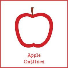 Free printable red and green apple outlines to use for all your apple arts and crafts.