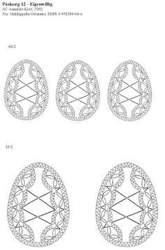Oeuf Bobbin Lace Patterns, Egg Crafts, Lacemaking, Lace Heart, Lace Jewelry, Cutwork, Filet Crochet, Ribbon Embroidery, Lace Detail